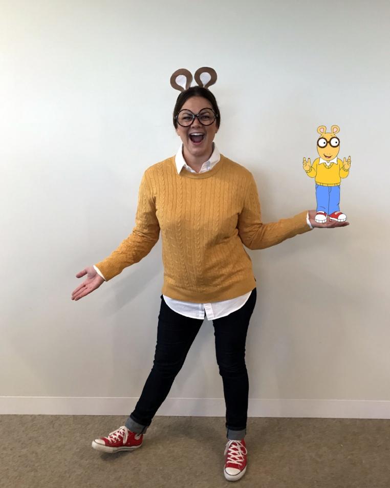 Katie as Arthur