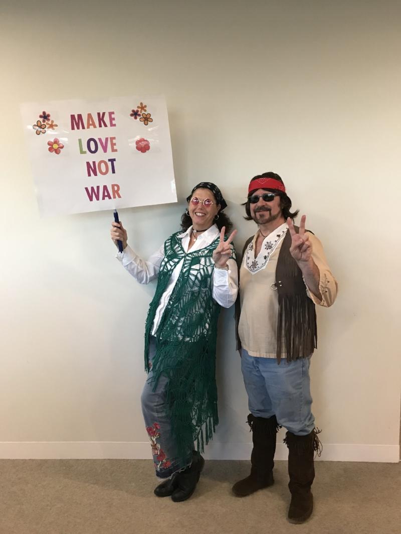 Martha & Merlin as Hippies