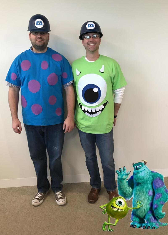 Michael & Denny as Sully & Mike Wazowski