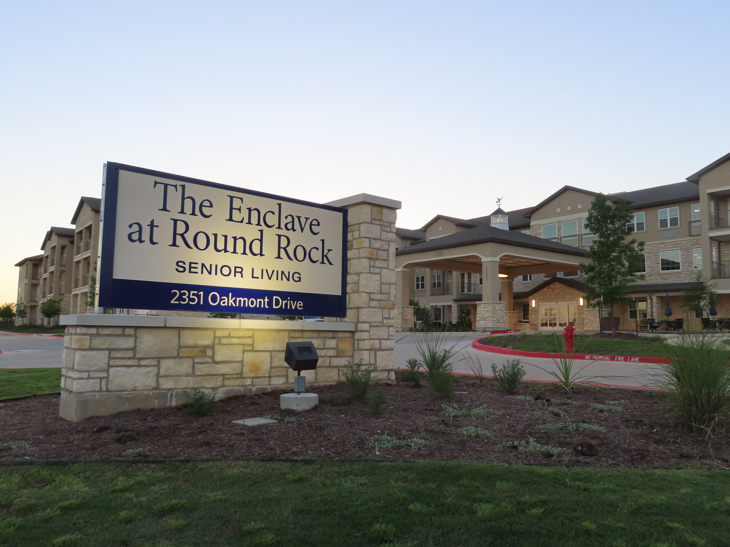 Round Rock Independent Living & Assisted LivingSign and Front.JPG