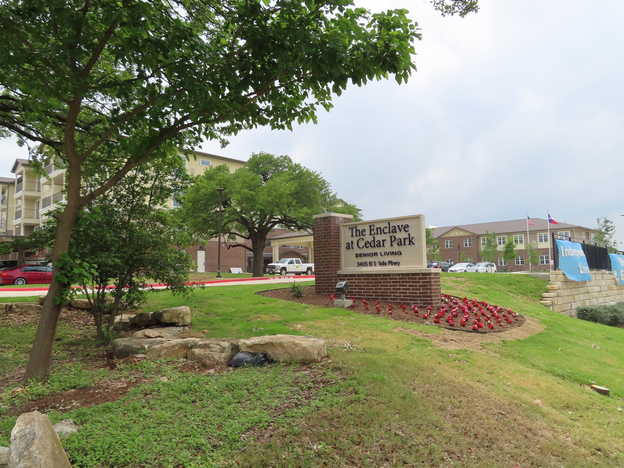 Cedar Park Independent Living, Assisted Living & Memory Care Sign and Entry.JPG