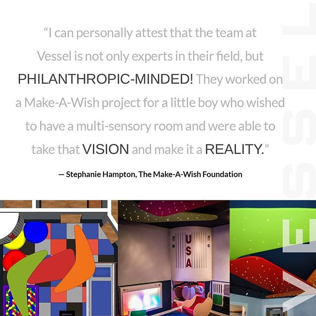Make A Wish introduced us to a really neat kid and a tough design challenge: design a space for a 6-year-old to play, grow, learn, laugh, sing, relax, sleep, and enjoy his family. Luke became our youngest client, and one of our favorites! • • • • #makeawish #charity #architecture #vessel #architects #dreamcometrue #projects