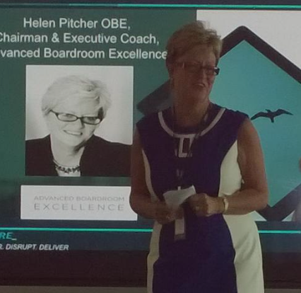 Helen Pitcher speaks at the 02 women in leadership networking event