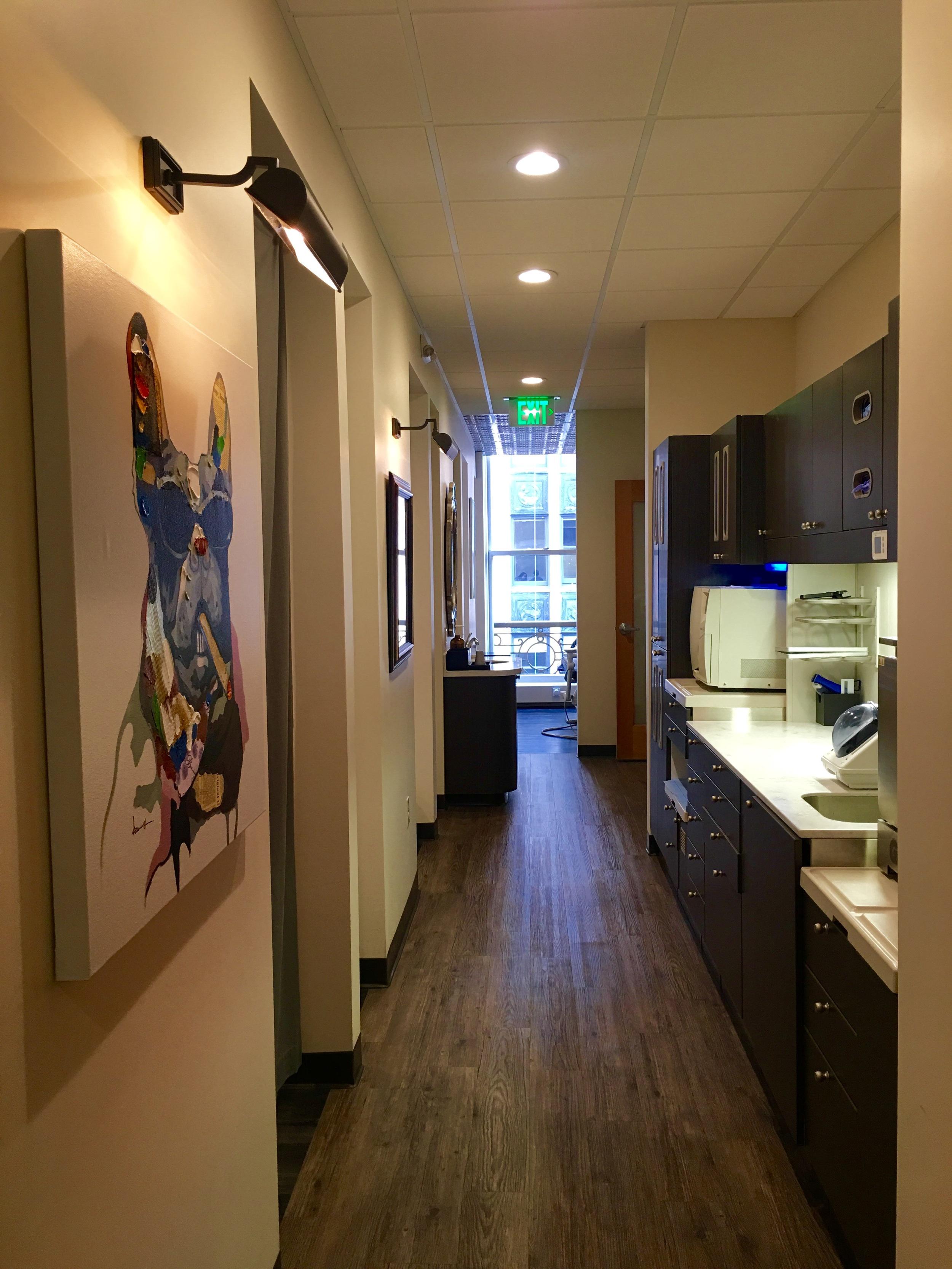 San Francisco dental office hallway