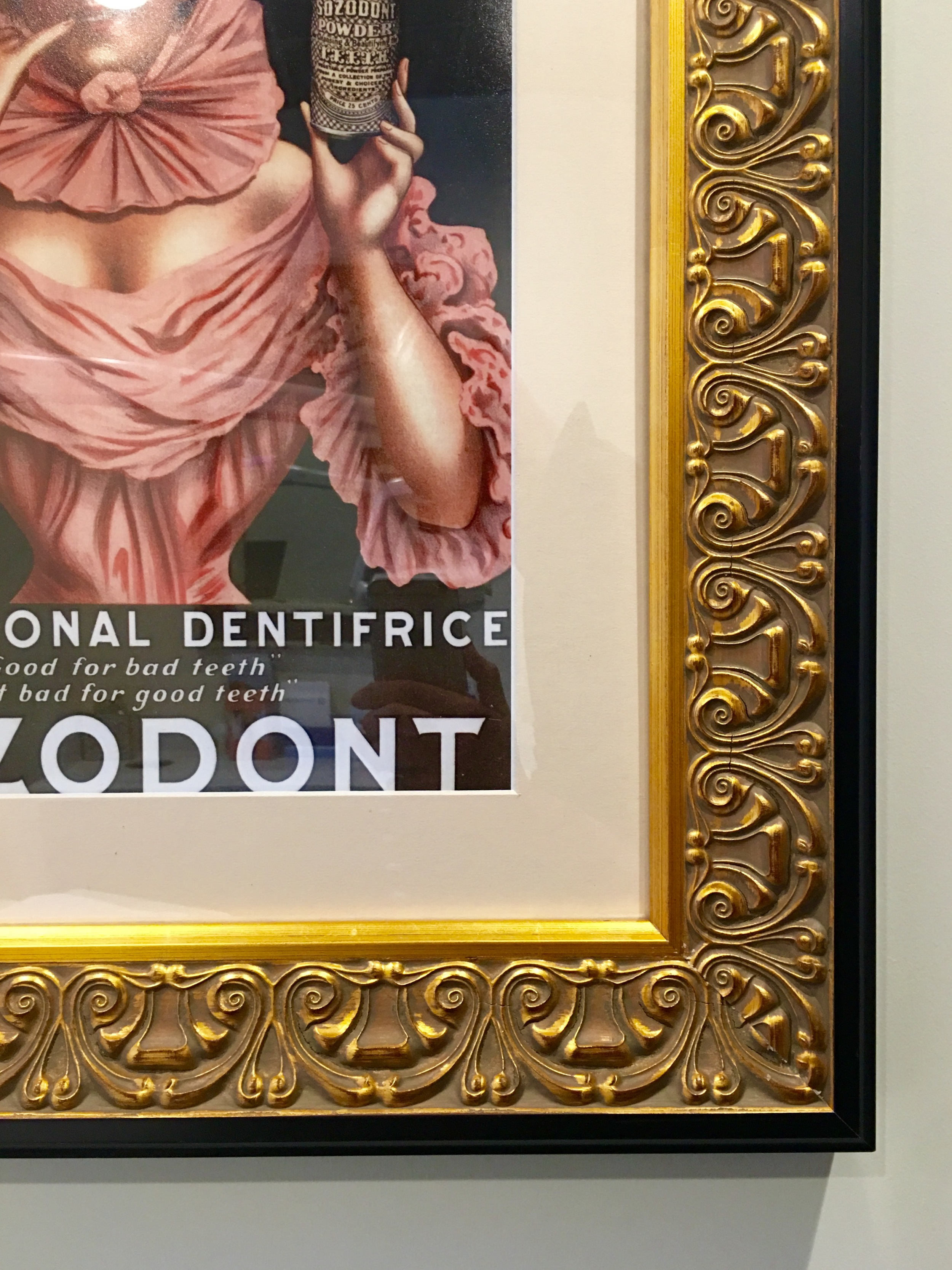 San Francisco dental office wall art with classical frame