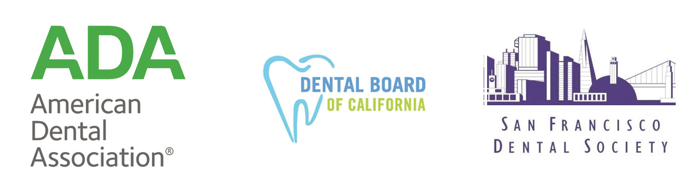 Dr. Emily Gentry's certifications include the American Dental Association, Dental Board of California and the San Francisco Dental Society