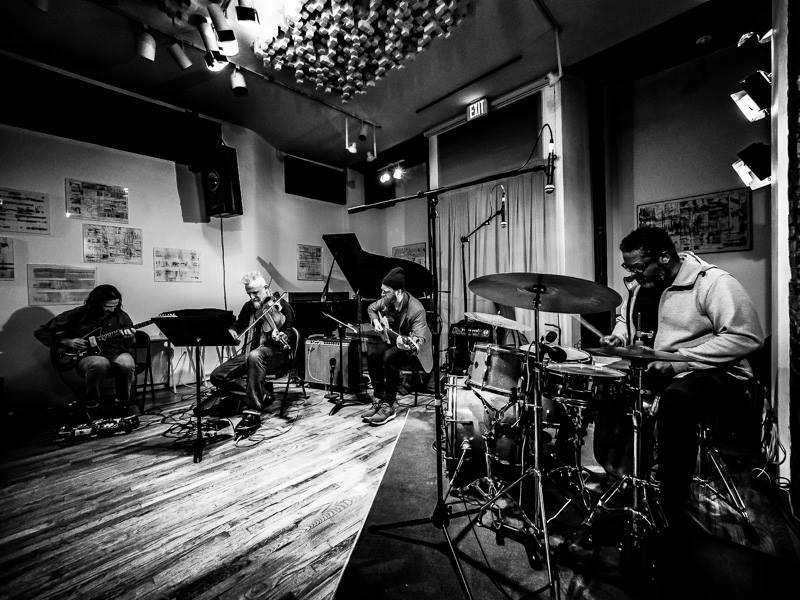 with Mat Maneri, Simon Jermyn, Gerald Cleaver  Scholes Studios - NYC -  2/14/2019