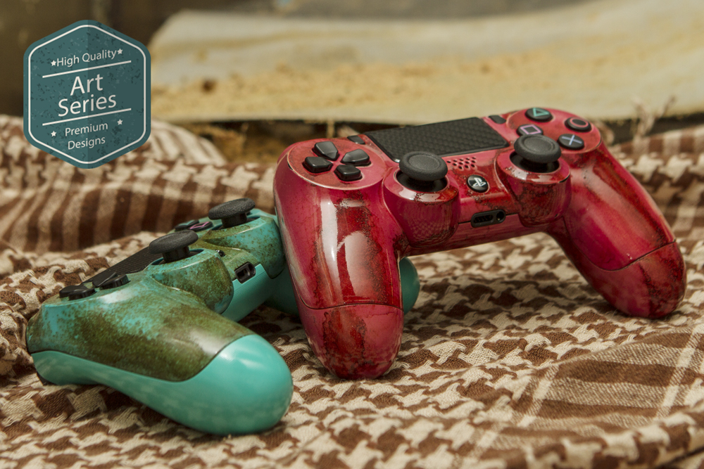 Rusted Patina PS4 controllers