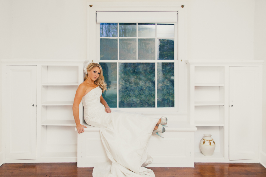 Bride-On-Window-Ledge