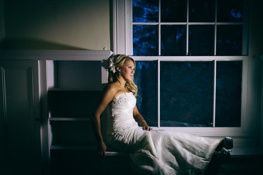Close-Up-Bride-On-Window-Ledge