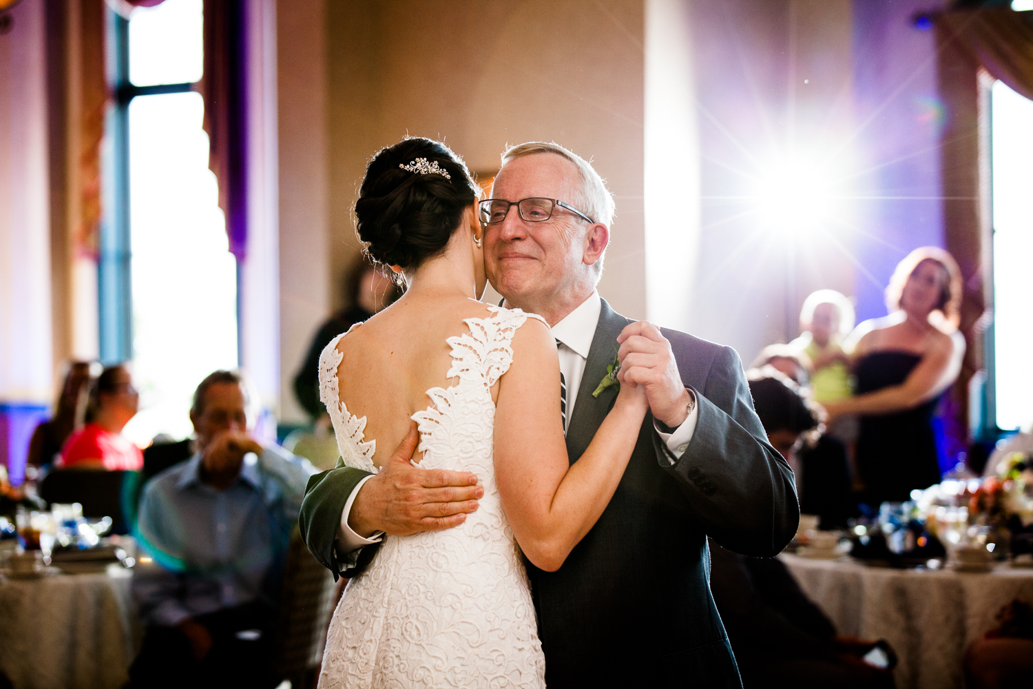 Father daughter dance at Belhurst Castle, Geneva New York