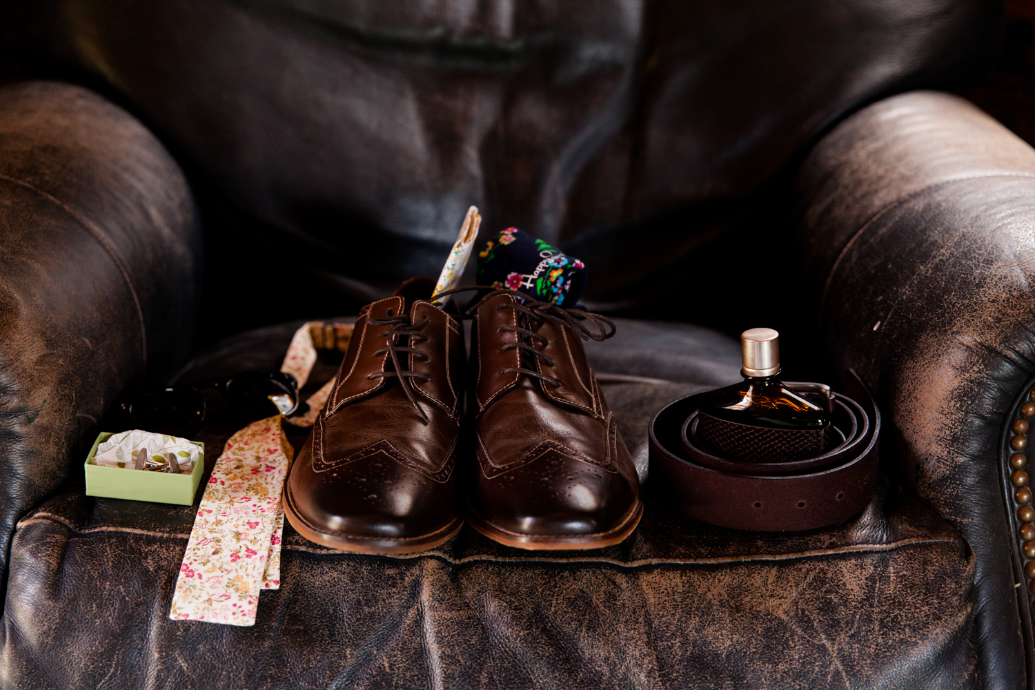 Collection of groom wedding details