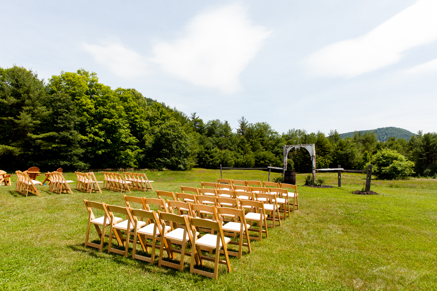 View of an Adirondacks ceremony site in upstate, NY