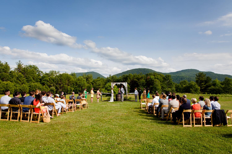 A beautiful ceremony at Burlap and Beams in the New York Adirondacks