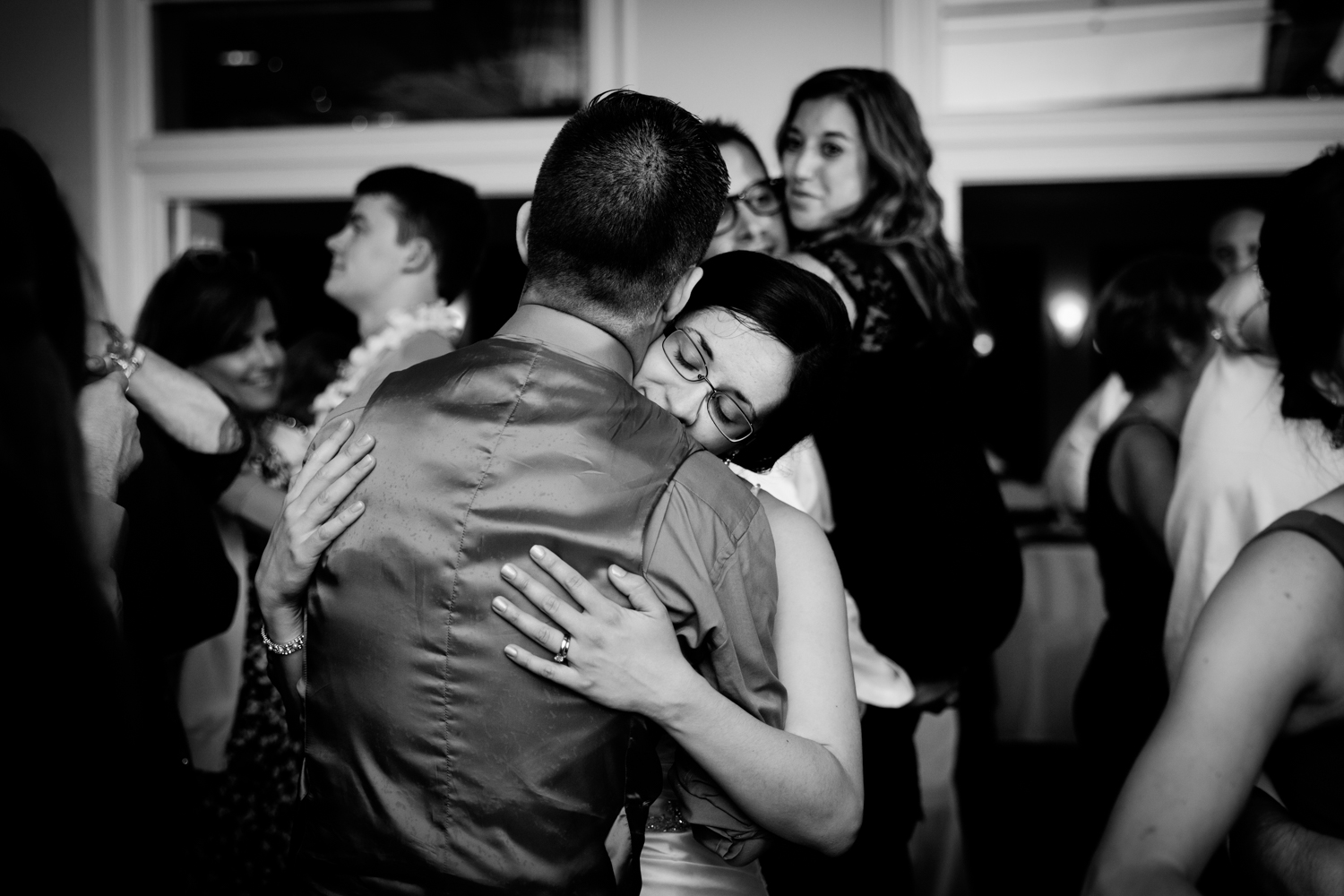 Final dance of the wedding night at Bellevue Country Club in Syracuse, NY.