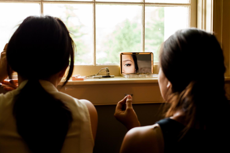 Makeup photo of bridesmaids