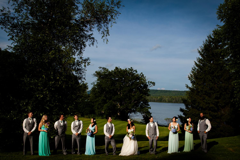 Dramatic bridal party photograph