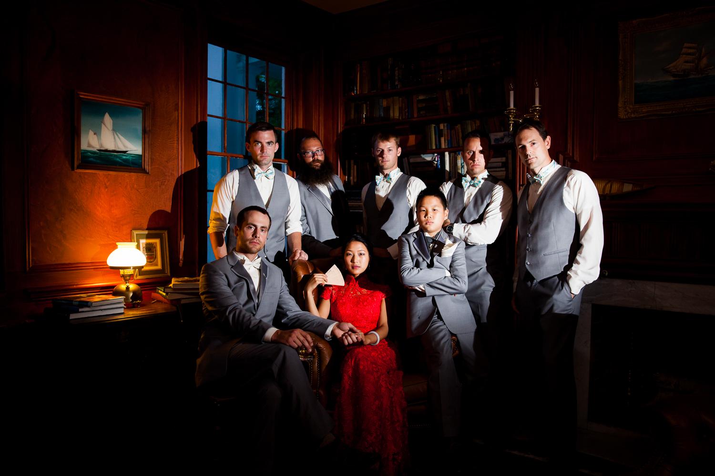 Dramatic groomsmen photograph