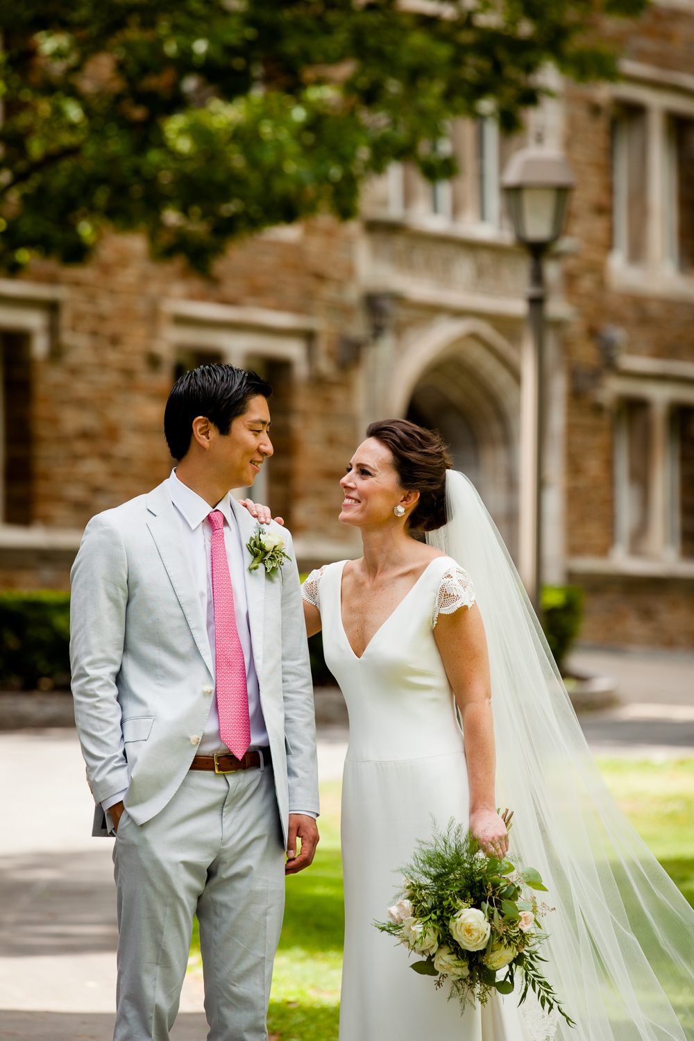 Bride and groom at Hamilton College