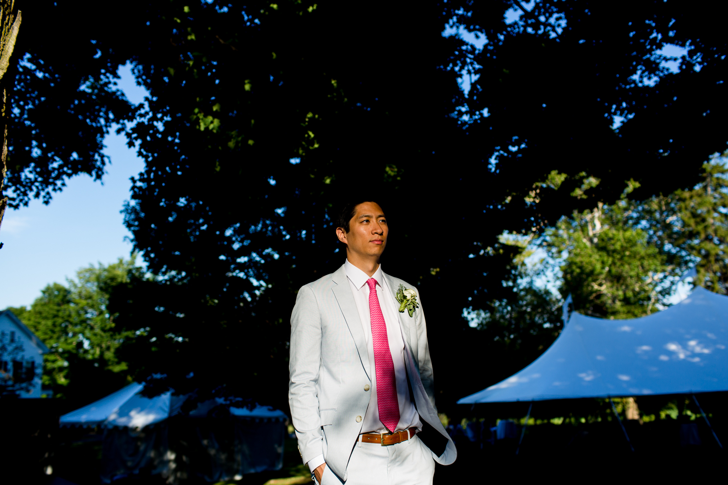 Dramatic portrait of the groom
