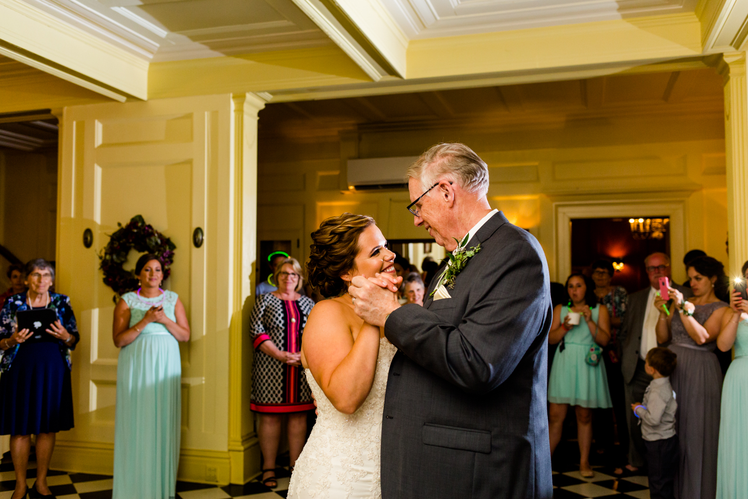 Happy moment during the father daughter dance.