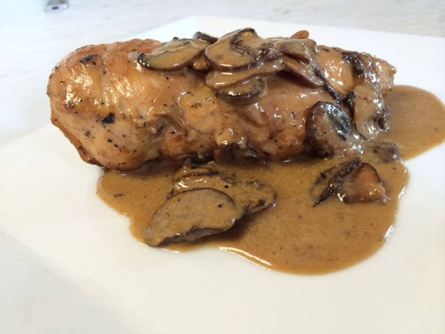 Breast of Chicken with Mushrooms
