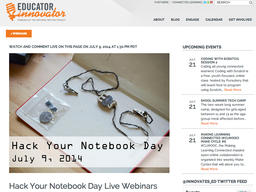 Click the image to watch the archived webinars at Educator Innovator.