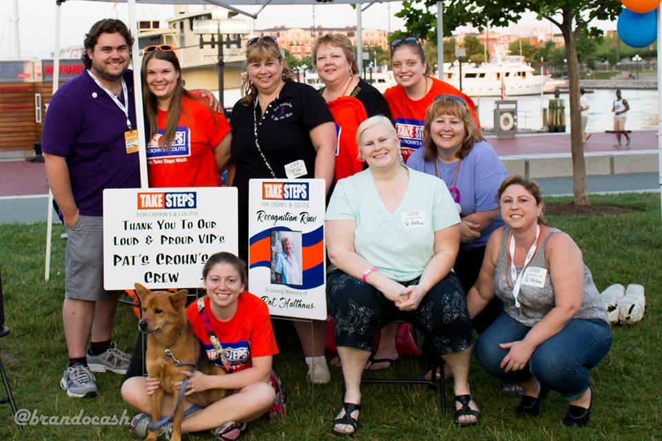 Pat's Crohn's Crew at the Take Steps Walk June 2013.