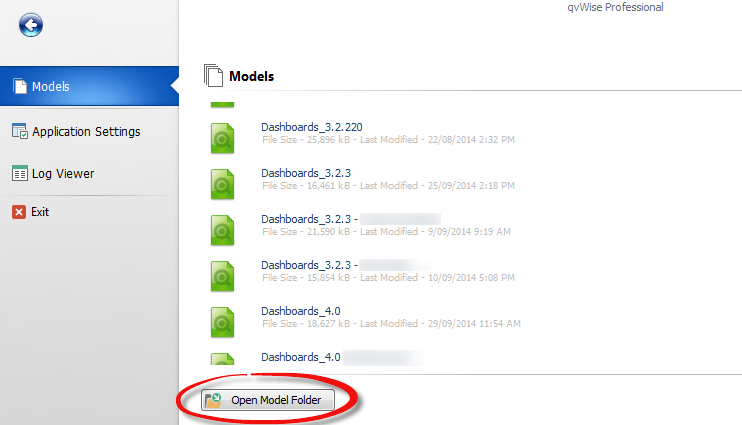 "To access the local app data folder, click on the icon ""Open Model Folder"" in the bottom"