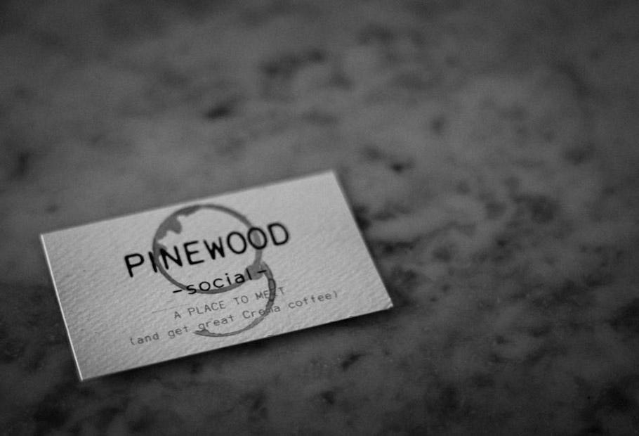Pinewood Social floor sign