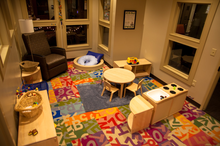 A young toddler and mother's room is perfectly suited to entertain the tiniest of guests.