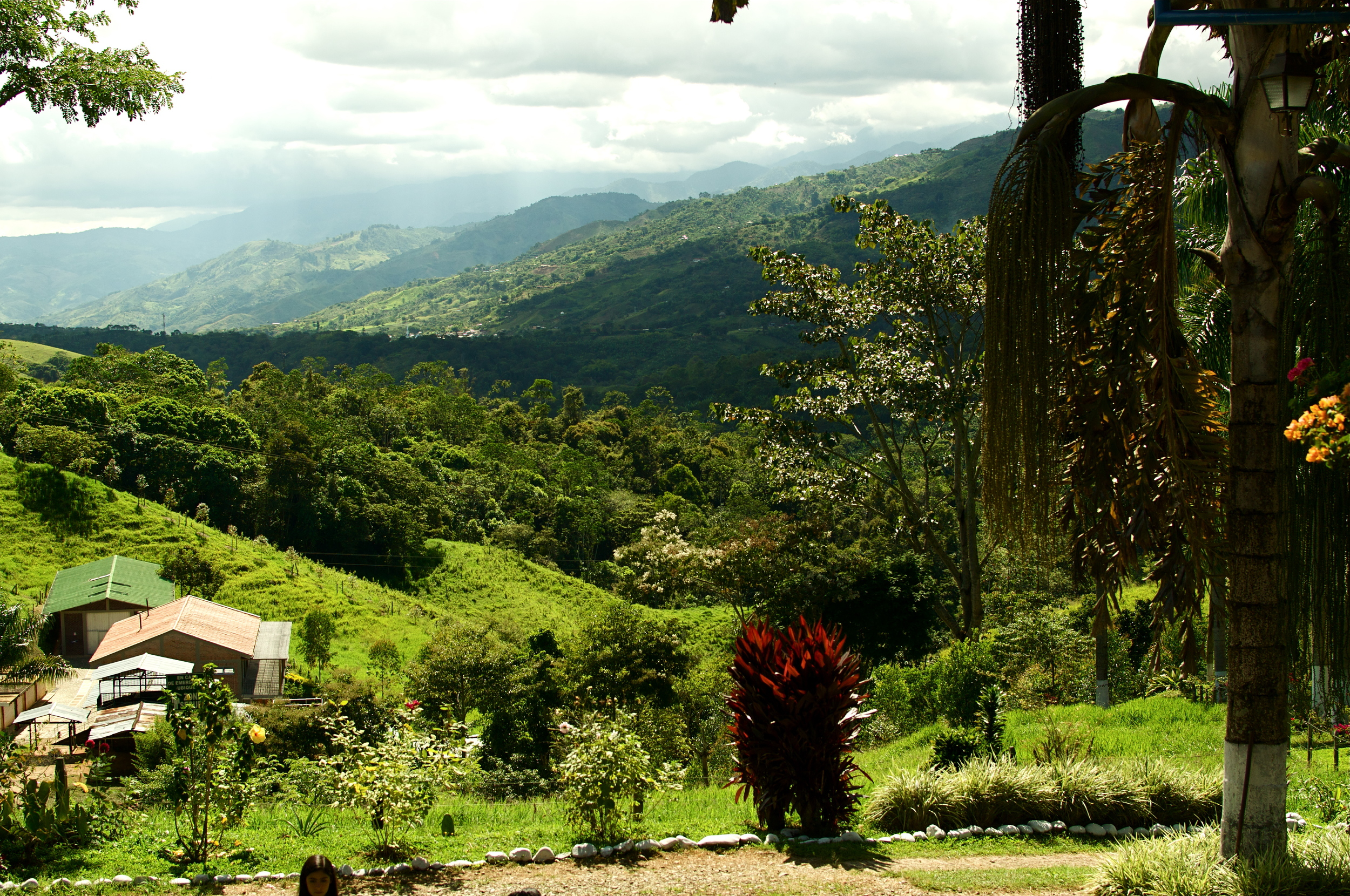 The view from the house at La Esperanza overlooking the  Trujillo Valley in the Valle del Cauca region.