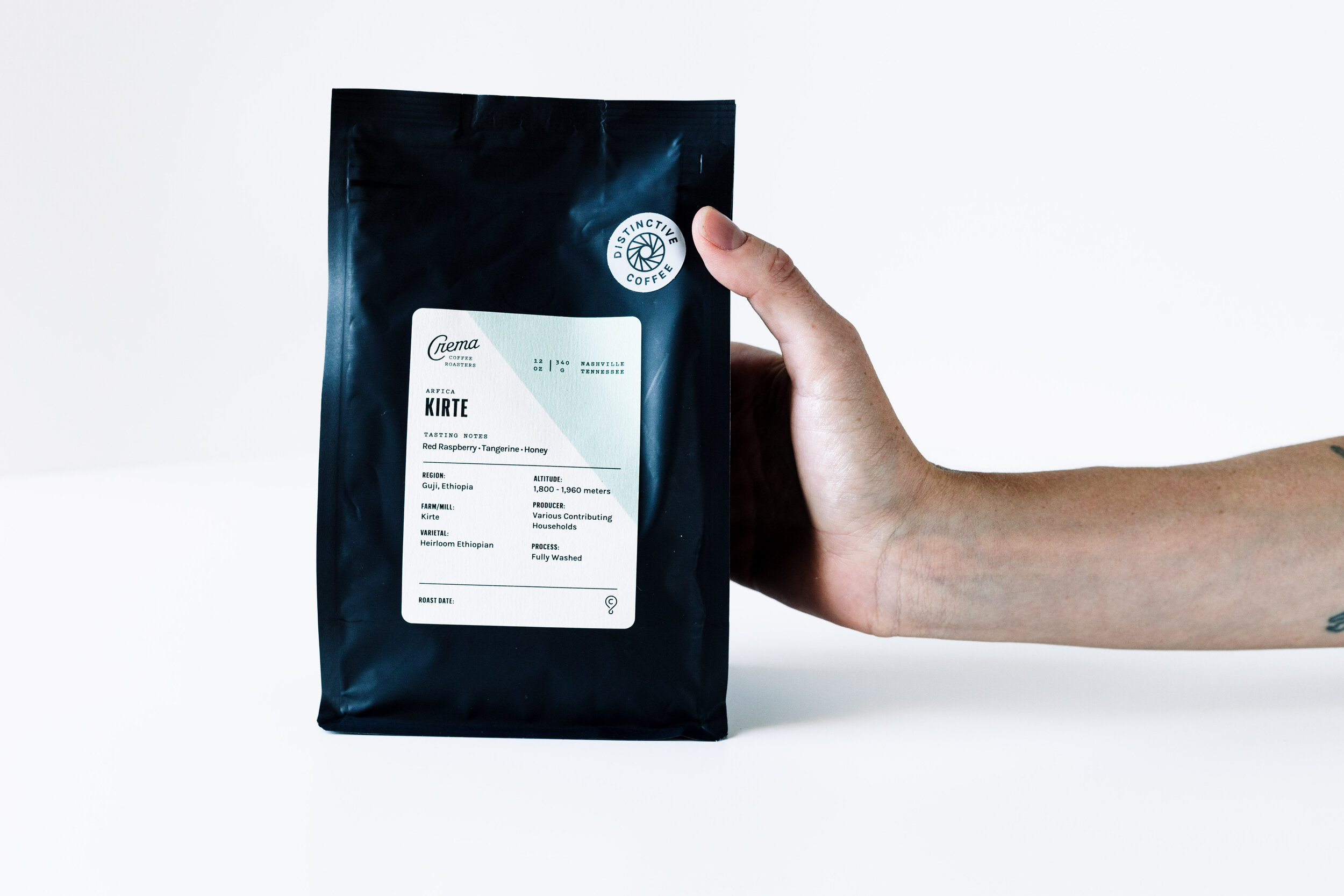 - KIRTEOn every bag of coffee we've produced, there's a small info section that covers many details.