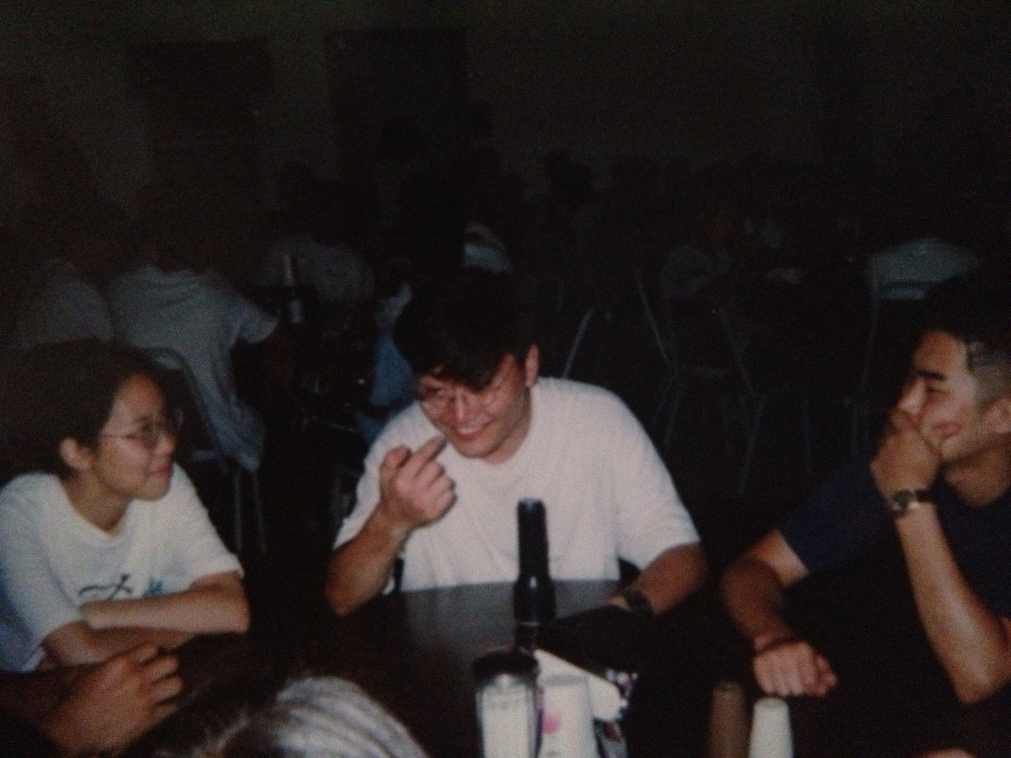 Really random picture of Andy at the BYG Retreat at the Streamside cafeteria circa 1996... I think.