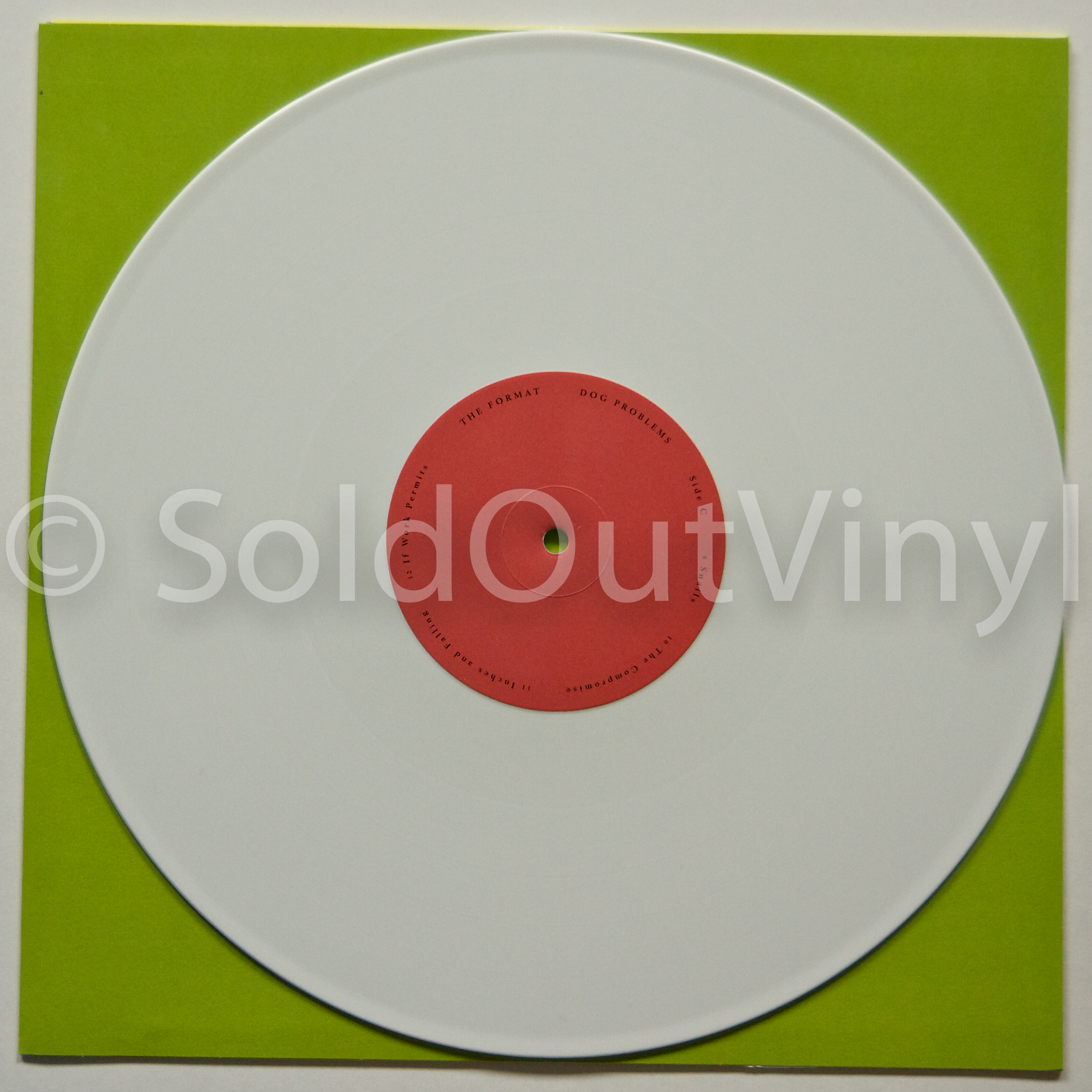 The Format Dog Problems Vinyl White Lp Soldoutvinyl