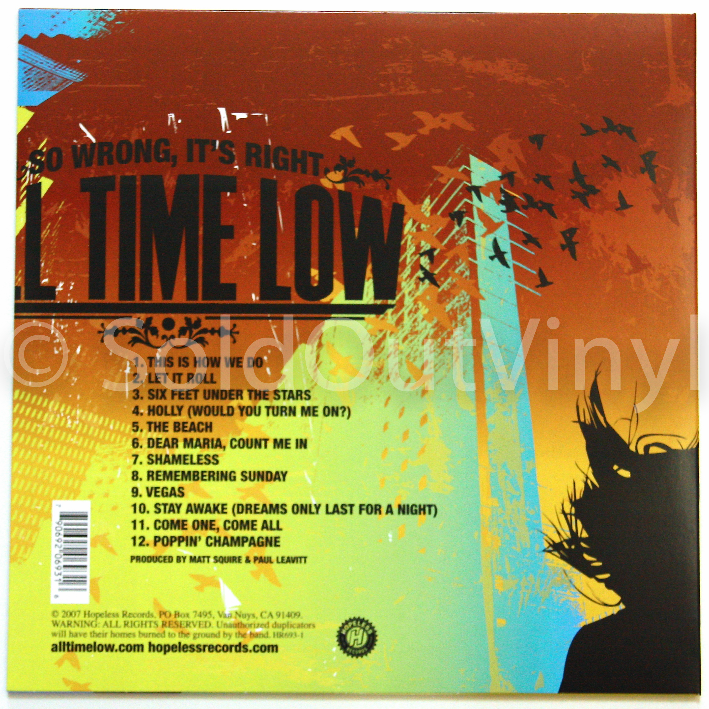 All Time Low So Wrong It S Right Vinyl Lp Soldoutvinyl