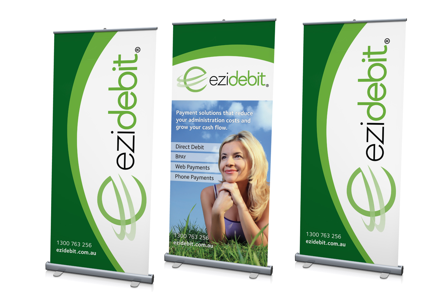 Pull Up Banners: Large Format 1200mm w x 2150mm h, CMYK + 2 PMS / 1 side, 200gsm matt Waratah fabric