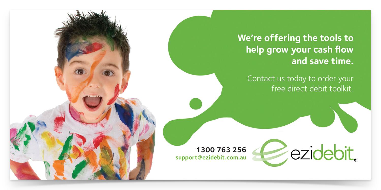 Childcare Brochure: 210mm w x 99mm h, CMYK / 2 sides, 150gsm coated artboard