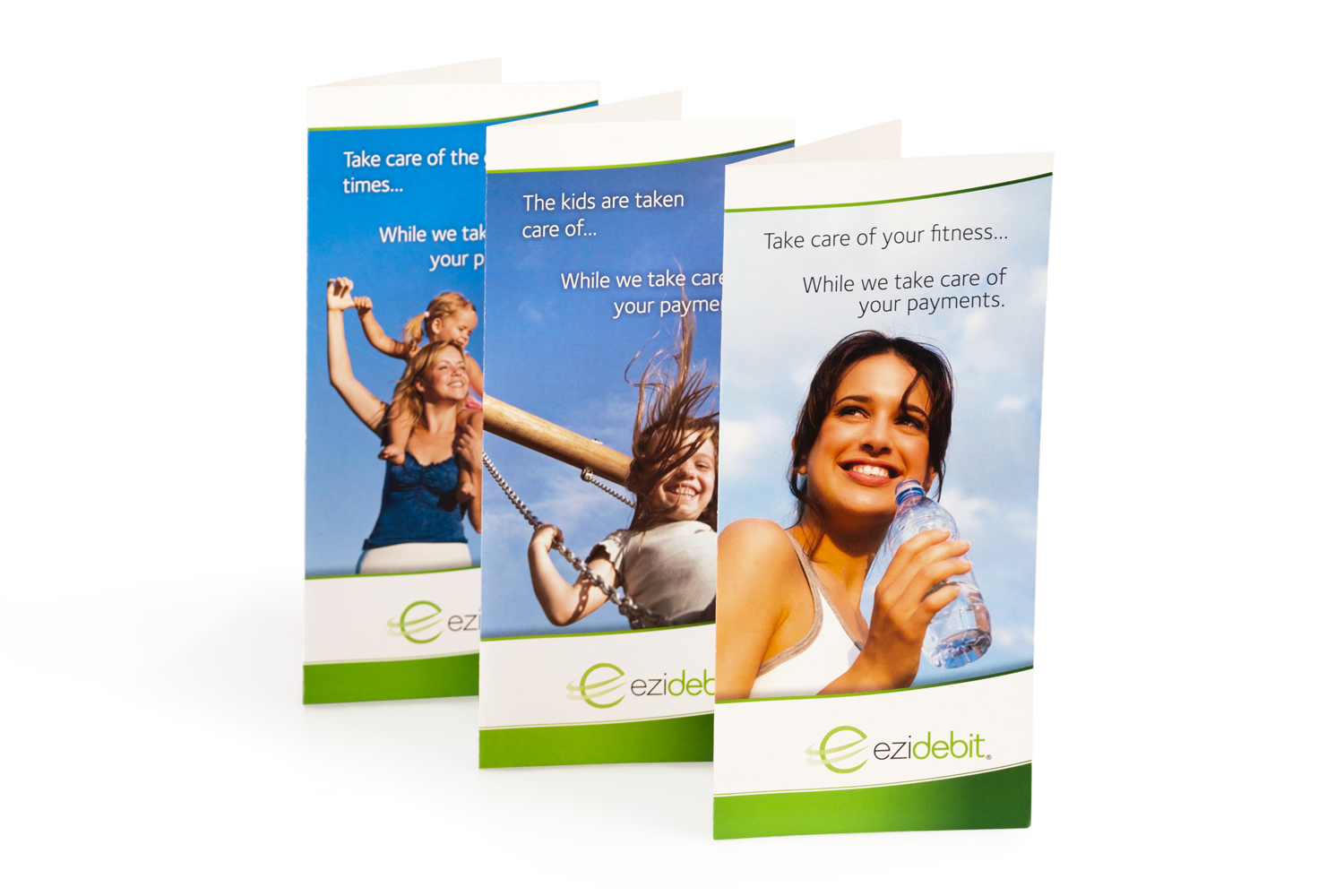 Folded Brochures: 198mm w x 210mm h, folded size 99mm w x 210mm h, CMYK / 2 sides, 150gsm silk Spicers Pacesetter