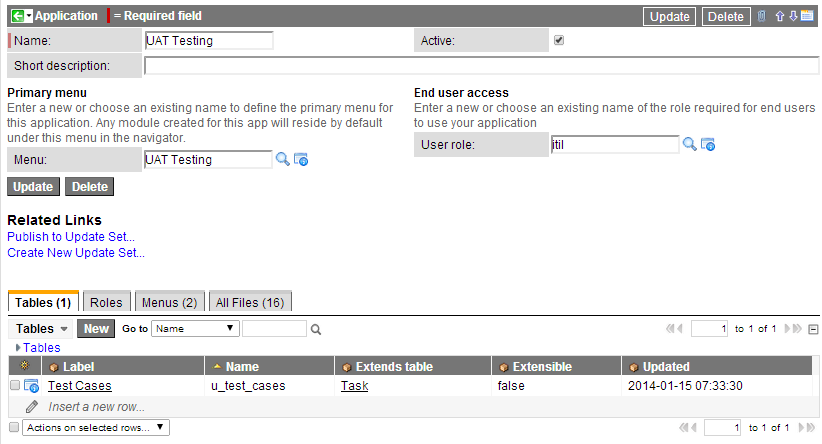 UAT Testing Application
