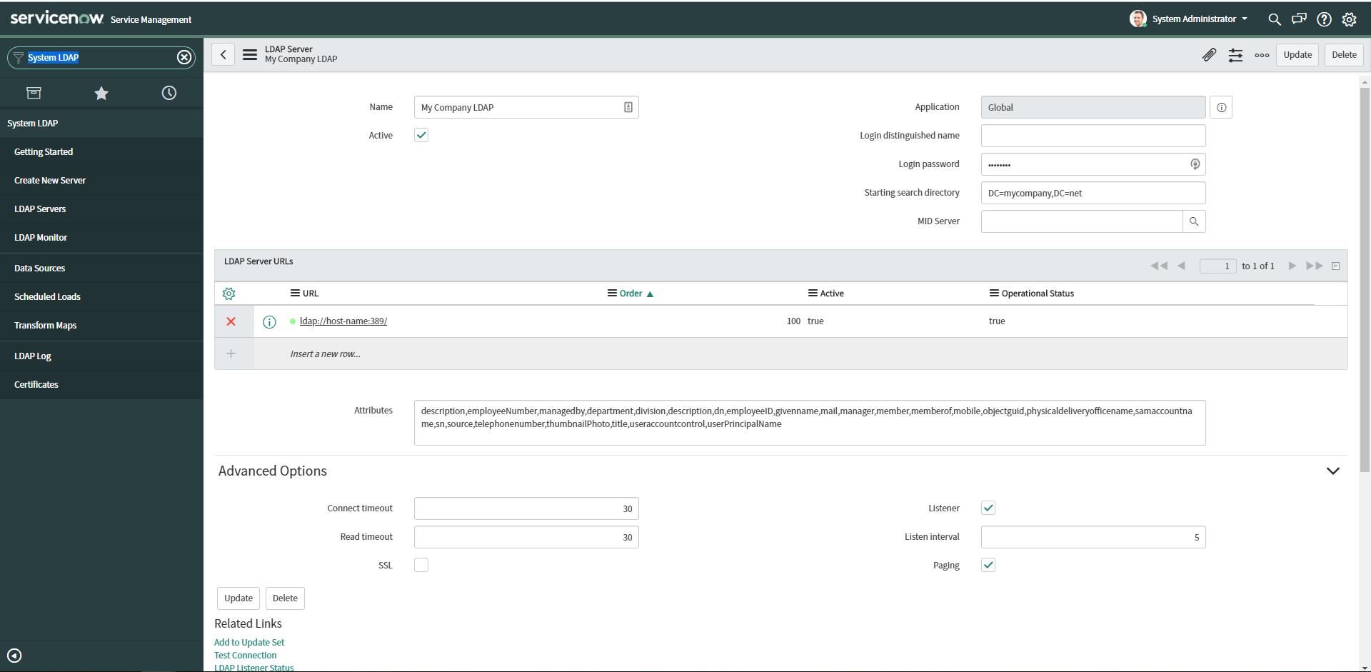 Example LDAP Server
