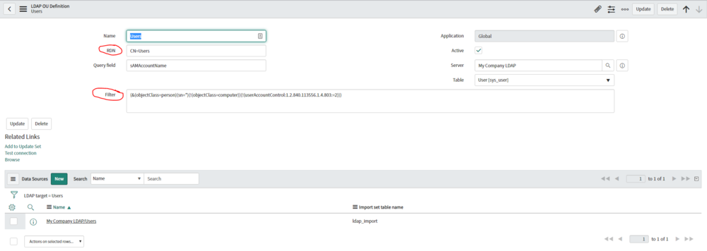 LDAP Integration — ServiceNow Elite