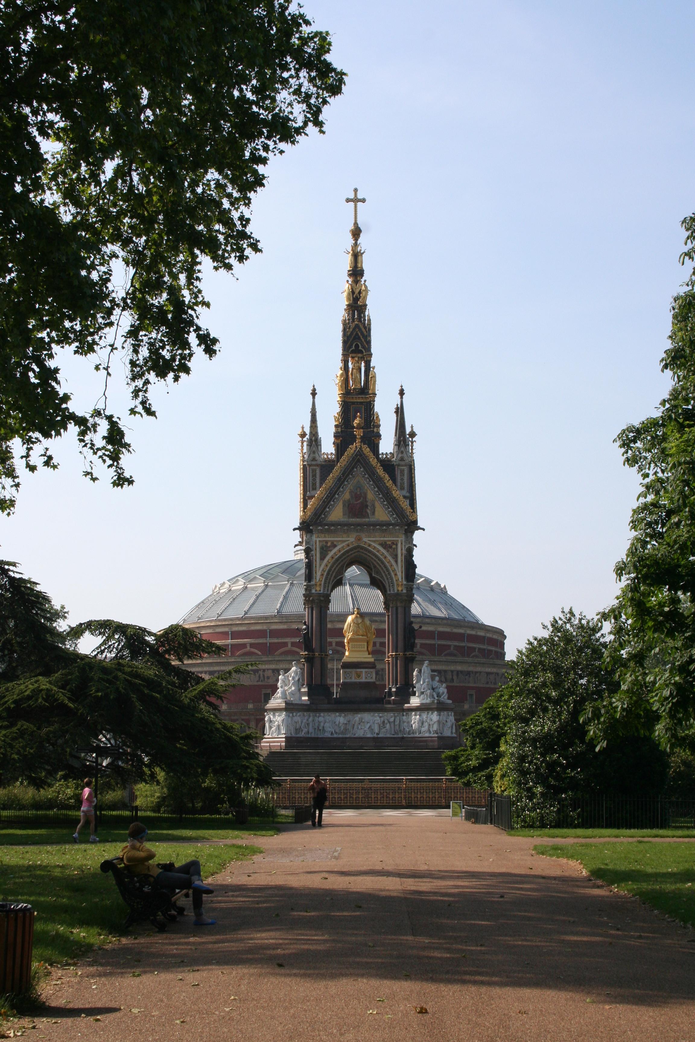 Albert Memorial, the ultimate in grandiose statements in Kensington Park, London.
