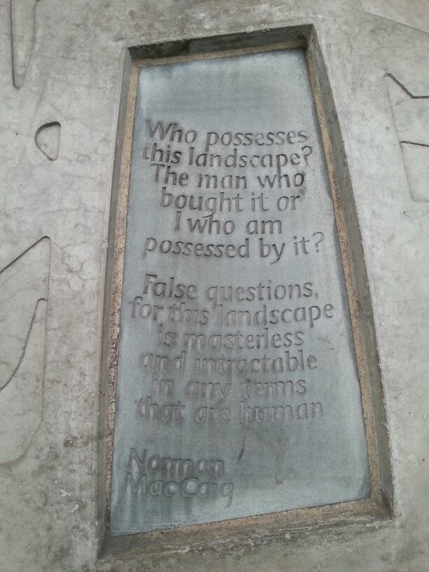 A poignant question posed on a mural outside the Scottish Parliament, Edinburgh. Photo taken by Rosie Duncan.