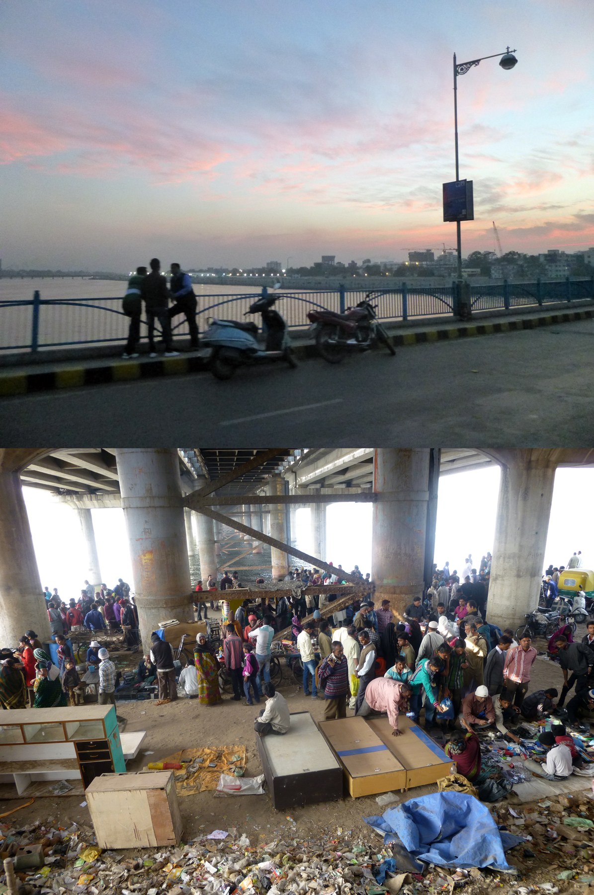 The city's bridges - places for meeting above and for markets below