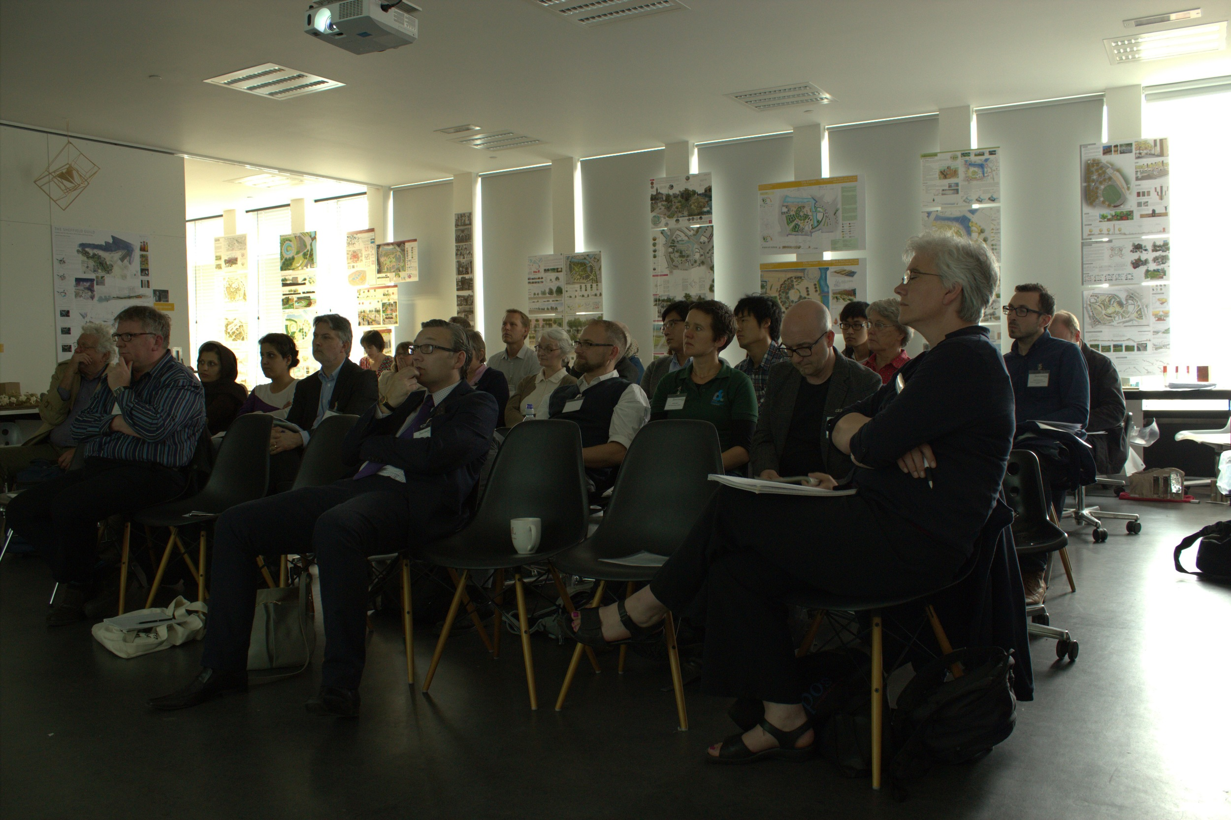 Delegates listening to Peter Neal's evening talk
