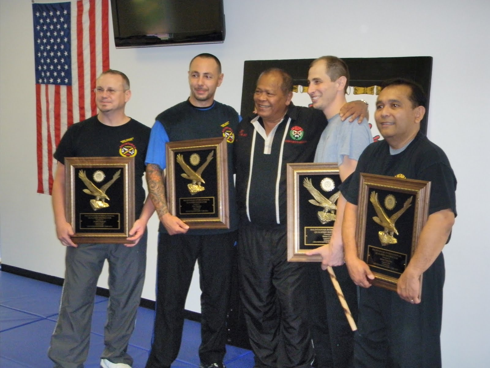 World Camp 2010. Richmond Balintawak founder, Jemar Carcellar receives his Level 7 Fully Qualified Instructor.