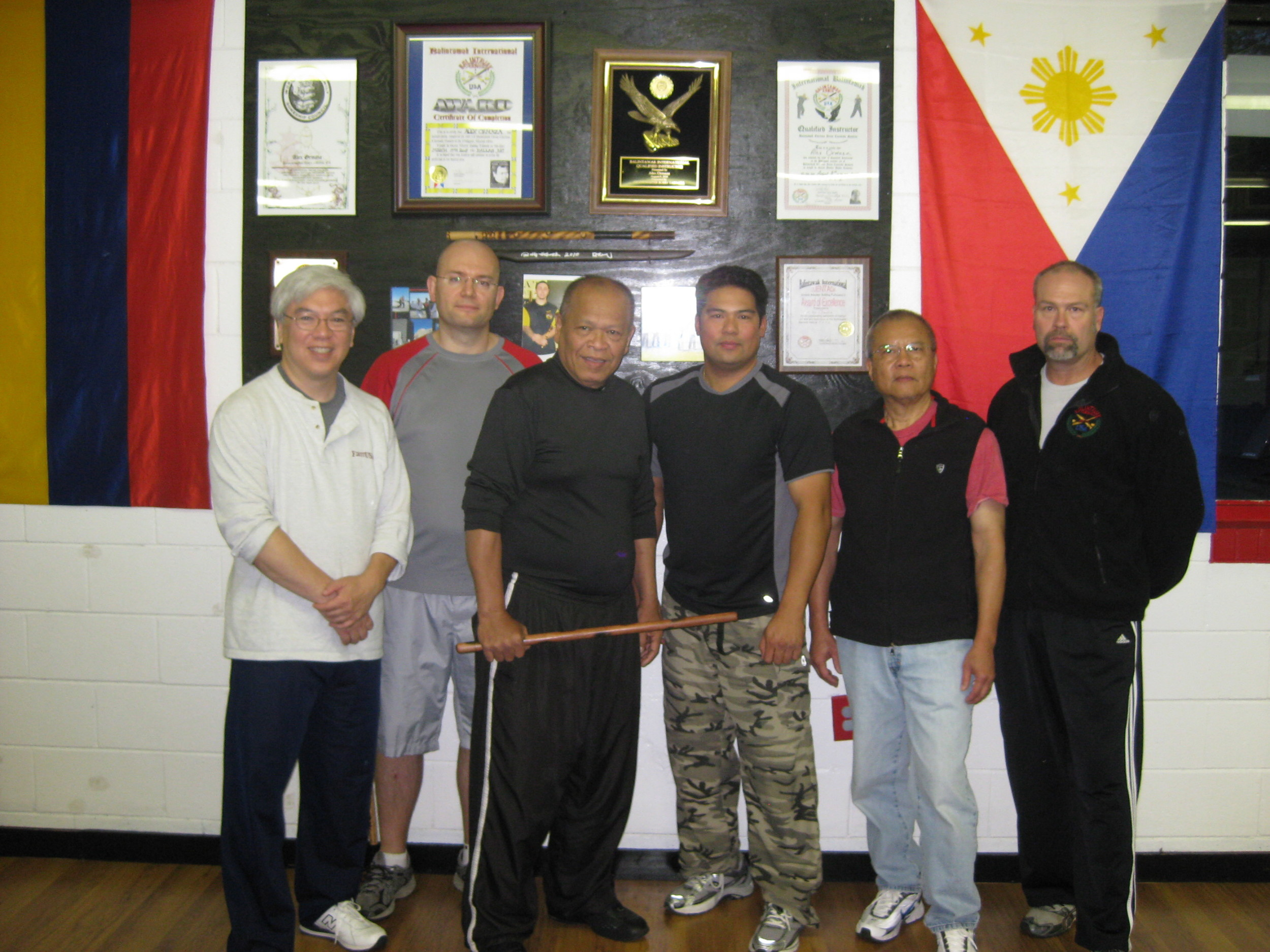World Camp 2011. (L-R) Terence Chu, Pete Vatev, GM Bobby Taboada, Nebrido Nocon, Aris Taloma, Scott Meyer