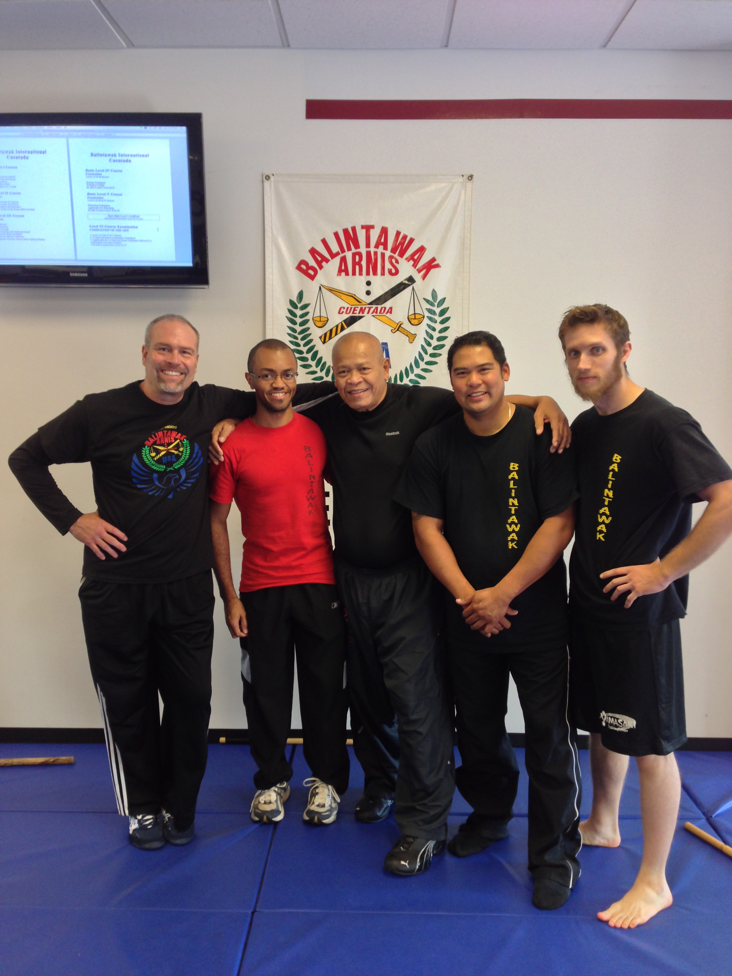 World Camp 2012 (L-R) Scott Meyer, Kinney Thompson, GM Bobby Taboada, Nebrido Nocon, Ben Winn
