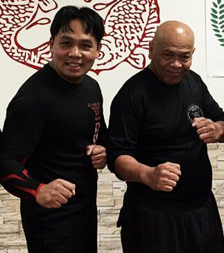 Grand Master Taboada (R) with Guro Michael (L)